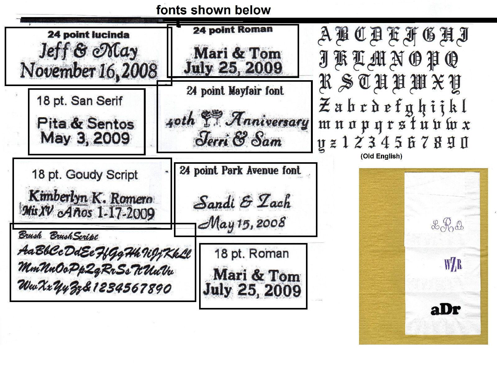 ROYAL FLUSH CARDS LOGO 50 Personalized printed DINNER HAND TOWEL FOLD napkins image 4