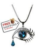 Oval Bead Tear Eye Shape Design Fashion Pendant Necklace Jewelry - $14.00