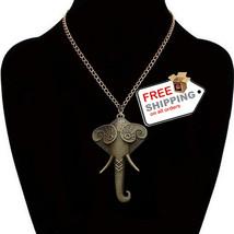 Men Women Elephant Pendant Necklace Long Chain Vintage Jewelry 2016 - $12.00