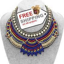 Ethnic Choker Necklace Beads Boho Statement Jewelry NEW 2016 - $17.00