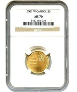 2001-W Capitol Visitors Center $5 NGC MS70 - Modern Commemorative Gold - £1,832.48 GBP