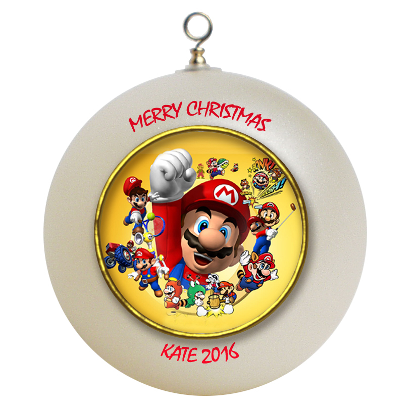 Personalized Super Mario Christmas Ornament Gift #2 ...