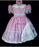 NEW Handmade Disney Princess Cute Border Deluxe Dress Set Custom Sz 12M-... - $89.98