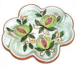 Ceramic Glazed Handpainted Serving Dish Platter Italy - $14.98