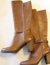 NEW UGG Claudine Brown Sz 11 Real Lamb Fur Lining 100%  Leather Riding Women Zip - $186.99