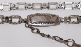 Vintage Metal Chain Women Belt Made In Italy Distress Look Small To Medium - €34,66 EUR
