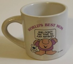 Vintage 1983 Ziggy Cerramic Mug Stoneware Worlds Best Mom Korea - $20.78