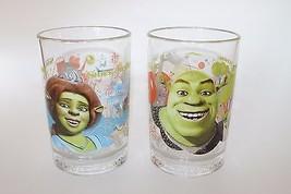 Collectible Shriek Fiona McDonald's Drinking Glass Set Of 2 2007 Dream works - $37.39