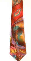 LANVIN Silk Men's Abstract Silk Neck Tie Made In France 100% Silk - $13.82
