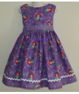 NEW Handmade Disney Ariel on Purple Gorgeous Dress Custom Sz 12M-14Yrs - $59.98