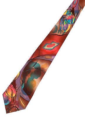 LANVIN Silk Men's Abstract Silk Neck Tie Made In France 100% Silk