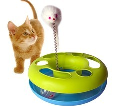 Cat Toy Catch Mouse Motion Activity Training Spring fun pet exercise bal... - $17.80