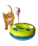 Cat Toy Catch Mouse Motion Activity Training Spring fun pet exercise bal... - £12.86 GBP