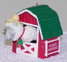 "1991 Enesco ""Fleece Navidad"" Christmas Ornament IOB - $12.99"
