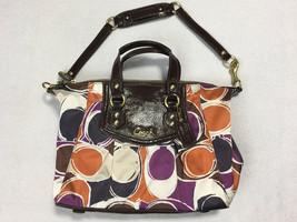 Coach Ashley Hand Drawn Scarf Print Shoulder Bag Purse F20034 FLAW - $49.99