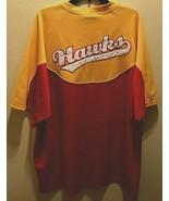 Atlanta Hawks NBA Hardwood Classics Red Yellow Vintage Pullover Shooting... - $19.79