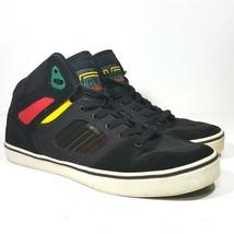 Vans High Top Mens Size 13 Black Rastafarian Colors Suede Canvas Skater - $32.77 CAD