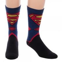Superman Suit Up Costume Dc Comics Adult Crew Socks - $12.00