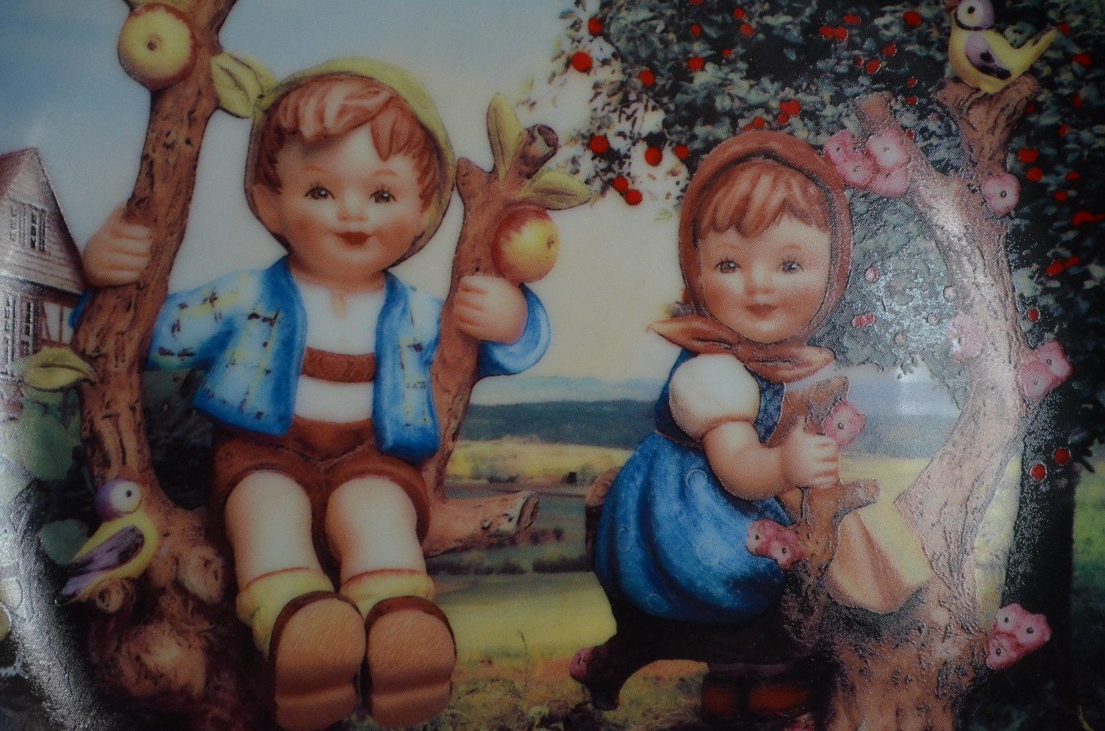 "Hummel ""Apple Tree Boy and Girl"" Plate Little Companions Danbury Mint 8"" MINT"