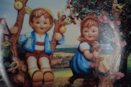 "Hummel ""Apple Tree Boy and Girl"" Plate Little Companions Danbury Mint 8""... - $9.79"