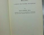 The Psychology of Music Max Schoen