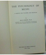 The Psychology of Music Max Schoen - $25.00
