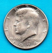 1974 D  Kennedy Halfdollar Circulated -High Grade Condition - $2.00