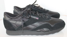 New Classic Vintage Looking  Reebok Men Black Rubber Leather Accent Shoe... - $65.43