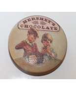 Vintage Hershey's Chocolate Tin Can Container Collectible 1982 Round Eng... - $27.16