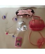 Lot Of 5 Build a Bear Accessories Bag MP3 Hair Band Sleeping Mask Baby Bear - $7.83