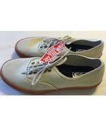 NWT Vans Off The Wall Sz 11.5 Shoes Cream Men Light Brown Skaters Lace - $65.43