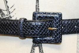 Club Monaco Leather Faux Snake Embosed Black Ralph Lauren Group 32 In Wo... - €30,32 EUR