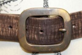 Levis Belt Brown 100% Leather Cowboy Rodeo Brass Metal Buckle Unisex Sma... - €38,99 EUR