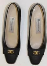 Vintage Pumps Ladies Shoes Black Leather Spain ... - $46.74