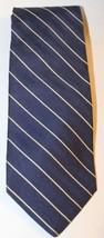 Brooks Brothers Basics Neck Tie Men Blue Stripe 100% Silk USA Diagonal Classic - $23.36