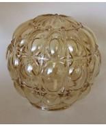 VTG  Glass Lamp Globe Shade Ceiling Fixture Pale Amber - $83.97