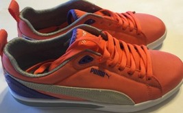 NEW Puma Eco Ortholite Nylon Women Sneaker Shoes Orange Leather Logo 8 L... - $46.74