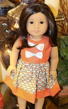 New Summer Orange With Bow Dress Doll Clothes F... - $9.19