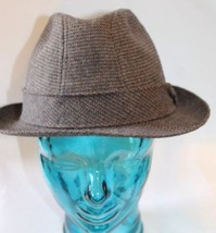 Vintage Mallory Stetson Fedora Style Men Hat Wool Leather Norfolk 58 7 1... - $74.78