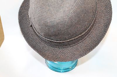21fbc85235e9f Vintage Mallory Stetson Fedora Style Men Hat Wool Leather Norfolk 58 7 1 4  USA