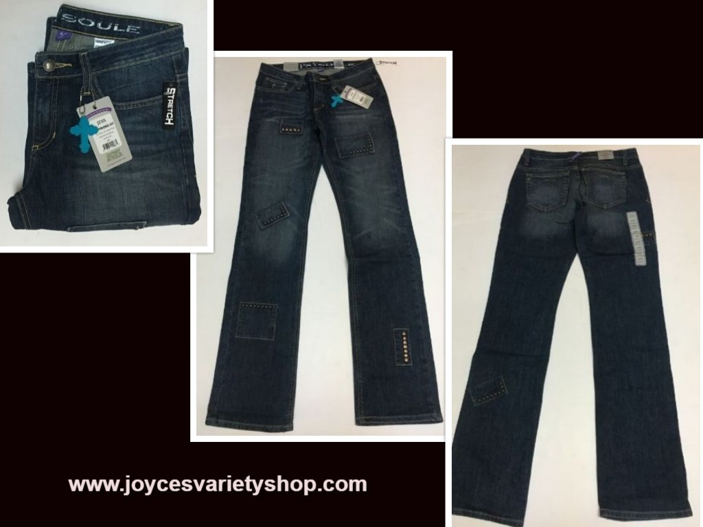 Women's Gypsy Soule Boyfriend Blue Jeans Jess Stretch Sz 28, 30, 34 Waist