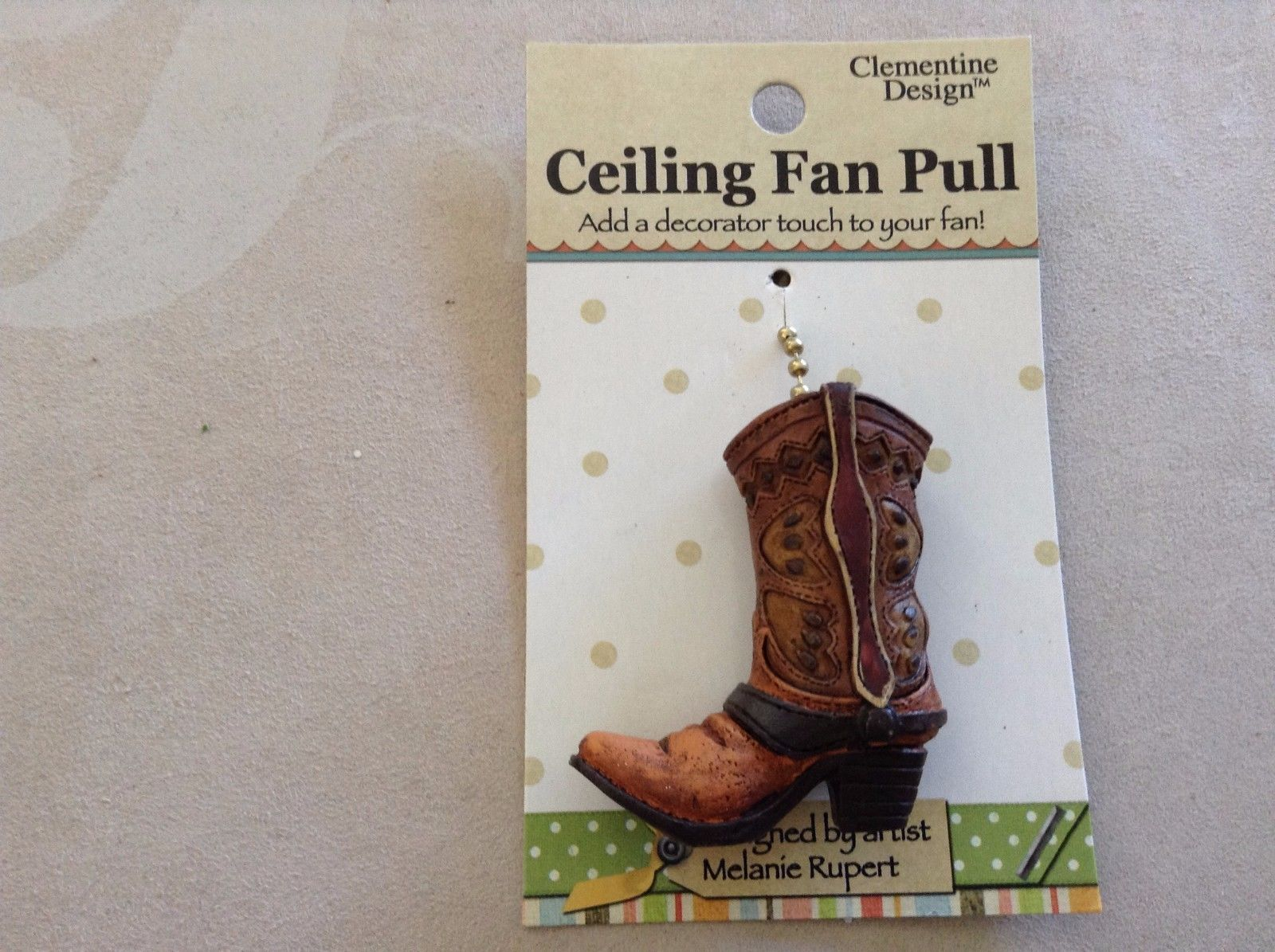 New Clementine Design Ceiling Fan Pull Cowboy Boots