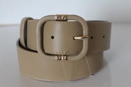 New Tory Burch Soy Belt Women Belt Vintage Camel Leather XS Italy Gold Logo - €78,01 EUR