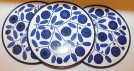 Mellitta 7-19 Ceramic Trivet Blue White Floral Design Set Of 3 Kitchen - $35.78