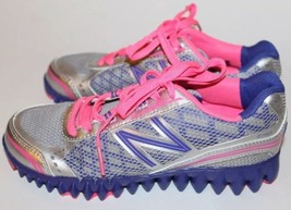 New Original NB New Balance Kid Shoes Gray Pink Athletic Light Sz 13 Lace Casual - $46.74