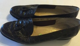 Vintage Women Loafer Salvatore Ferragamo Brown 100% Leather Shoes  Sz 5.5 - $70.89 CAD