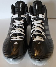New Adidas Crazyquick Men Football Soccer Shoes Cleats 16 Black Hi-Cut - $70.10