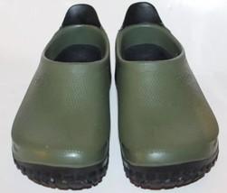 Birkis By Birkenstock Clogs Sandal Green Garden Sandals W7 M5 Rubber Ger... - $65.08