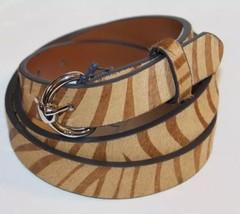 NWT Ralph Lauren Women Belt Brown Hair On Leather Zebra Print Large Meta... - €38,99 EUR
