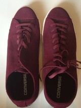 NWOT Converse Monochromatic Dark Red Leather Chuck Taylor All Star Low 1... - $56.09